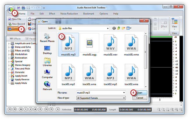 Input an Audio File