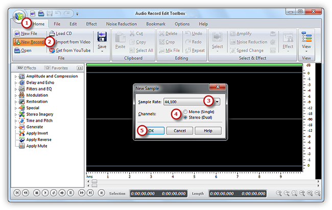 Activate Audio Recorder Window