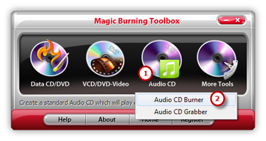 Launch Audio CD Burner