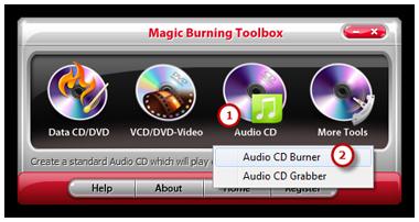 Launch Audio CD Burner
