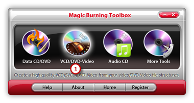 Launch VCD/DVD-Video Burner