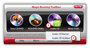 Launch Audio CD Grabber